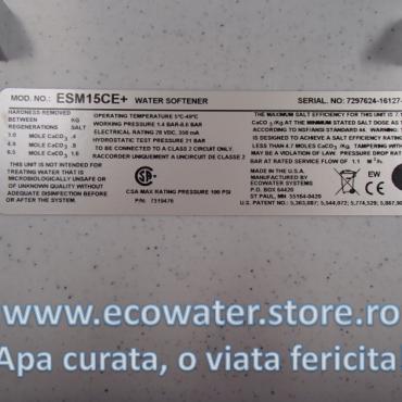 eticheta identificare dedurizator esm15
